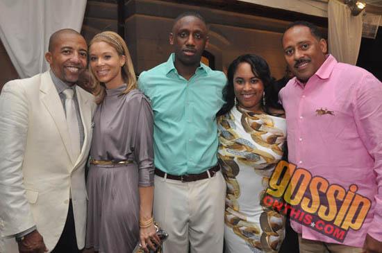 Kevin Liles (far left), Chaka Zulu (center) and Frank Ski (far right) // Frank Ski's Birthday Party in Atlanta