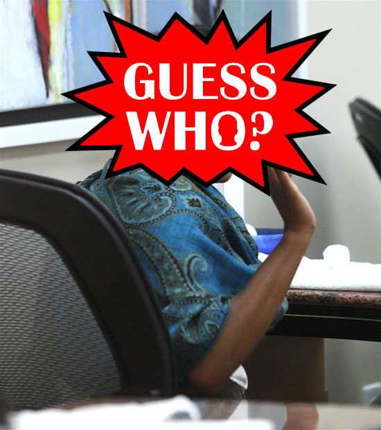 Guess Who?!: Getting Her Nails Done in Beverly Hills