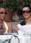 Ciara & Kim Kardashian at the Ivy in Beverly Hills (May 14th 2009)