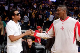 Jay-Z & Ron Artest at Lakers/Rockets game (May 4th 2009)