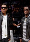 Jay-Z and Diddy at Lakers/Rockets game (May 4th 2009)