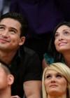Mario Lopez & his girlfriend at Lakers/Rockets game (May 4th 2009)