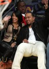 Timbaland & his wife Monique at the Lakers/Nuggets NBA Playoff Game (May 19th 2009)