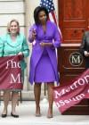 First Lady Michelle Obama, Mayor Michael R. Bloomberg, Met Museum President Emily Rafferty, Sen. Kirsten Gillibrand, Rep. Carolyn Maloney, and Rep. Charles Rangel // Metropolitan Museum of Art Ribbon Cutting Ceremony
