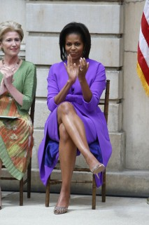 First Lady Michelle Obama & Met Museum President Emily Rafferty // Metropolitan Museum of Art Ribbon Cutting Ceremony