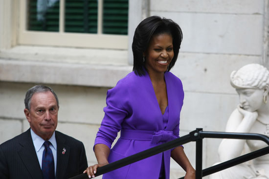 First Lady Michelle Obama & NYC Mayor Michael Bloomberg // Metropolitan Museum of Art Ribbon Cutting Ceremony