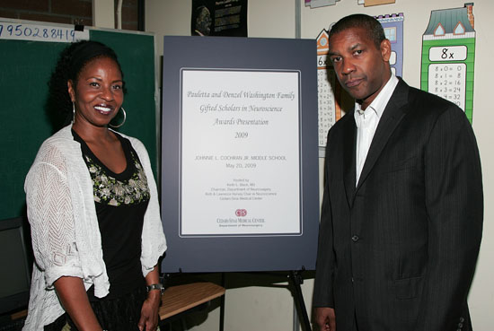 Denzel & Pauletta Washington // 6th Annual Washington Family Gifted Scholars Awards