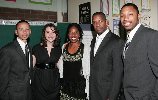 Denzel & Pauletta Washington with the award recipients // 6th Annual Washington Family Gifted Scholars Awards