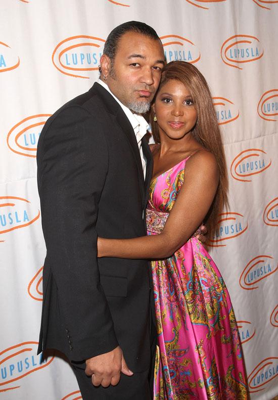 Toni Braxton and her husband Keri Lewis // 9th annual Lupus LA Orange Ball