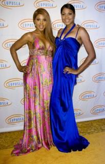 Toni Braxton and her sister Trina // 9th annual Lupus LA Orange Ball