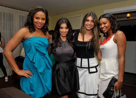 Sanaa Lathan, Kim Kardashian, Brittny Gastineu & Gabrielle Union // Carrera Vintage Sunglasses LA launch party