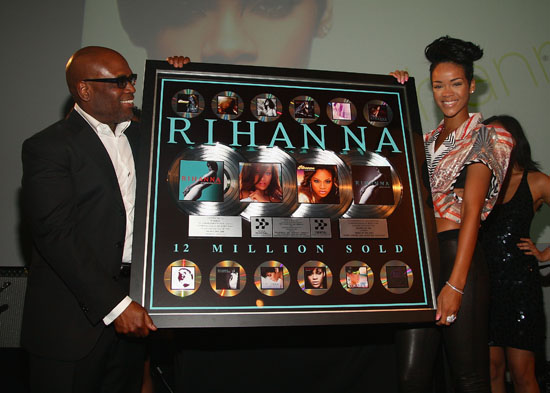 Def Jam's Antonio L.A. Reid & Rihanna // Def Jam 2009 Spring Collection Party