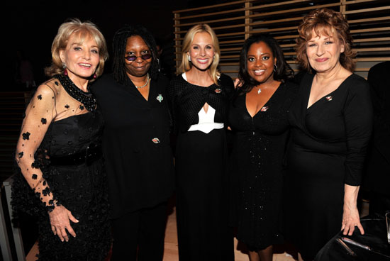 "The Ladies of ""The View\"" - Barbara Walters, Whoopi Goldberg, Elisabeth Hasselbeck & Sherri Shepherd // 2009 Time 100 Most Influential People in the World Gala"