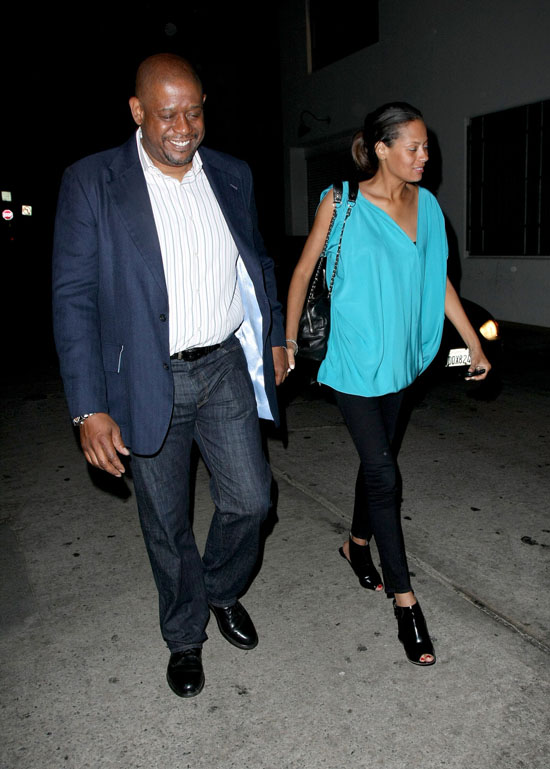 Forest & Keisha Whitaker leaving Beso in LA (May 11th 2009)