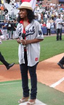 Tichina Arnold // 2009 Atlantic League All-Star Game and the Hot 97 vs. KISS-FM Celebrity Softball Showdown