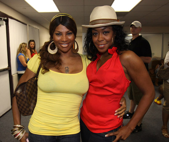 "Sandra ""Peppa"" Denton and Tichina Arnold // 2009 Atlantic League All-Star Game and the Hot 97 vs. KISS-FM Celebrity Softball Showdown"