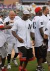 Thomas Jones of the New York Jets // 2009 Atlantic League All-Star Game and the Hot 97 vs. KISS-FM Celebrity Softball Showdown