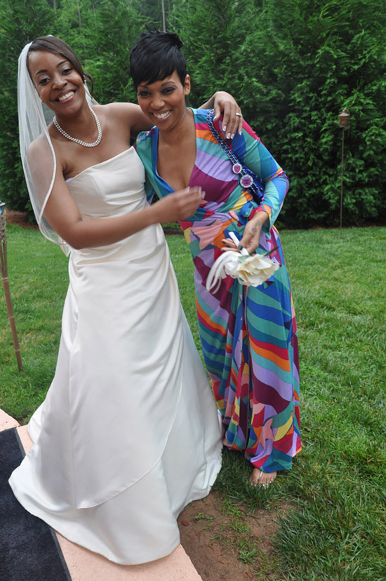 Monica and her friend Alysia at Alysia\'s wedding in Atlanta
