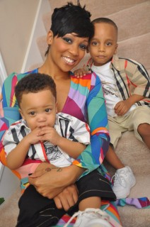Monica, Romello (front) and Lil Rocko (back) at Bryan and Alysia\'s wedding in Atlanta