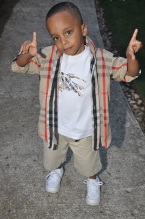 Lil Rocko (Monica\'s son) at Bryan and Alysia\'s wedding in Atlanta
