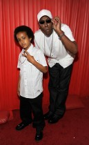 Arsenio Hall and his son Arsenio Jr. // 2009 BET Awards (Backstage)