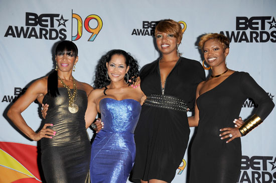 "Sheree Whitfield, Lisa Wu Hartwell, NeNe Leakes and Kandi Burruss from ""The Real Housewives of Atlanta"" // 2009 BET Awards (Press Room)"