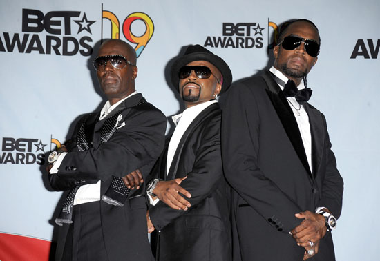 Aaron Hall, Teddy Riley and Damion Hall of Guy // 2009 BET Awards (Press Room)