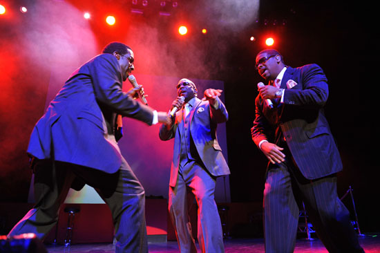 Boyz II Men performing in the UK at the indigO2 at London's O2 Arena