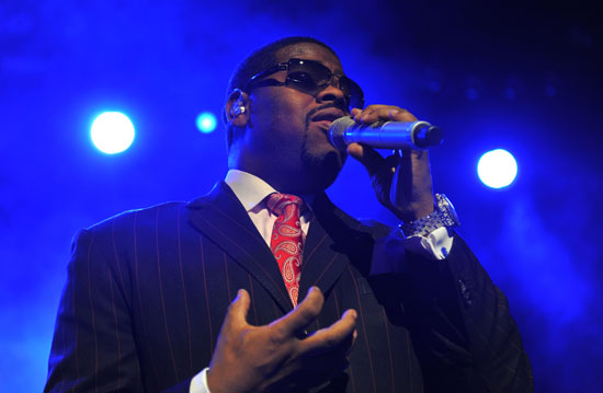 Nathan Morris of Boyz II Men performing in the UK at the indigO2 at London\'s O2 Arena