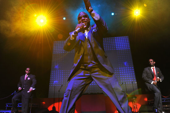 Boyz II Men performing in the UK at the indigO2 at London\'s O2 Arena