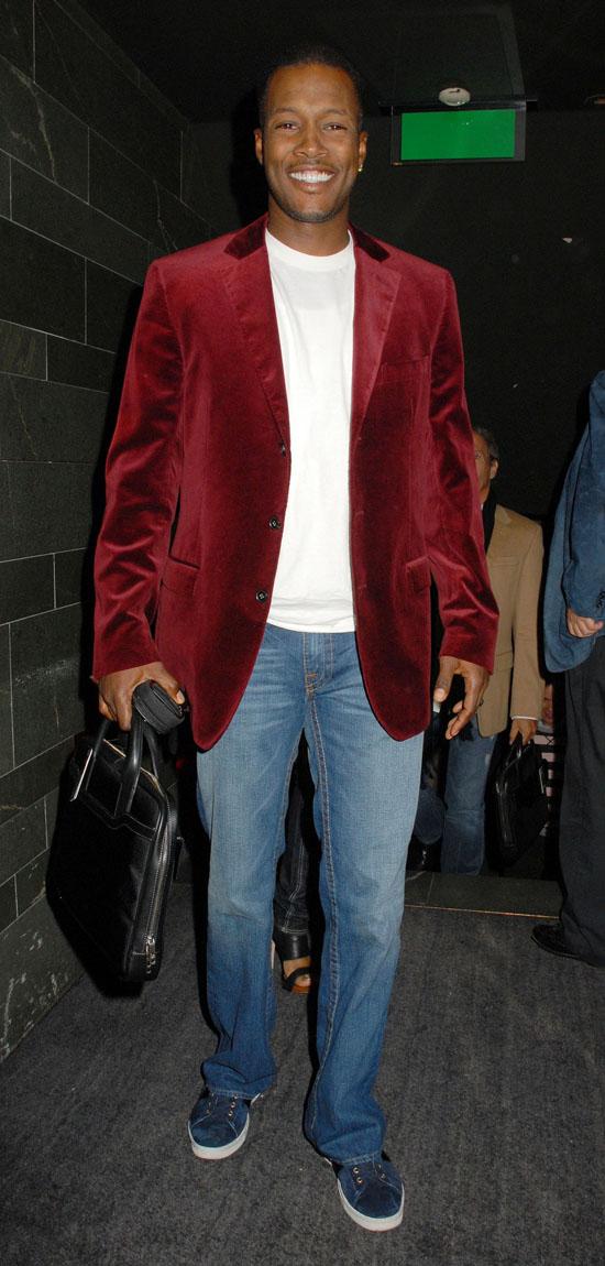Flex Alexander arriving at London's Hakkasan Restaurant (June 10th 2009)
