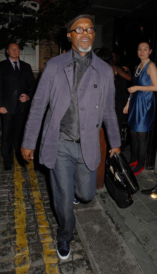 Samuel L. Jackson arriving at London's Hakkasan Restaurant (June 10th 2009)