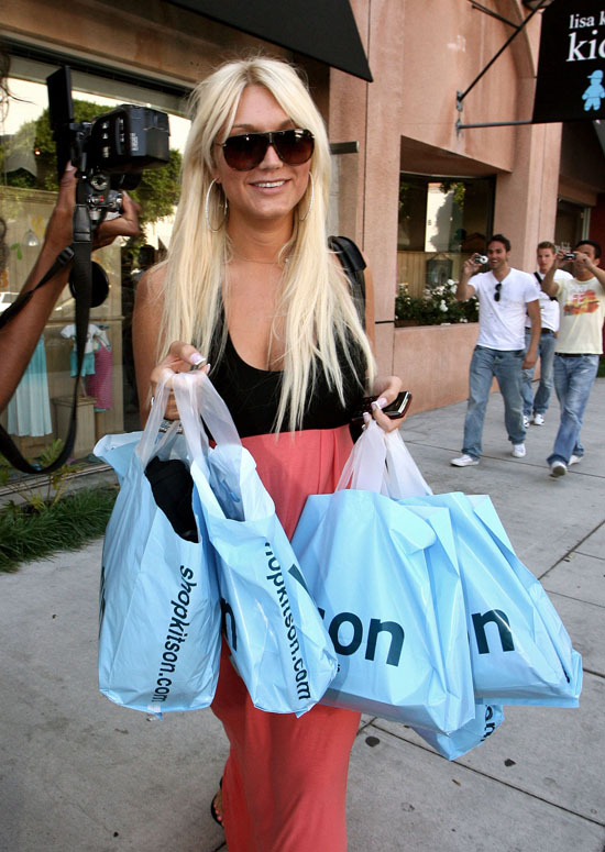 Brooke Hogan shopping at Kitson clothing store in Los Angeles (June 18th 2009)