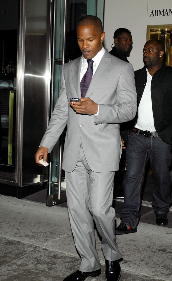 Jamie Foxx outside Armani Ristorante in New York City (June 18th 2009)