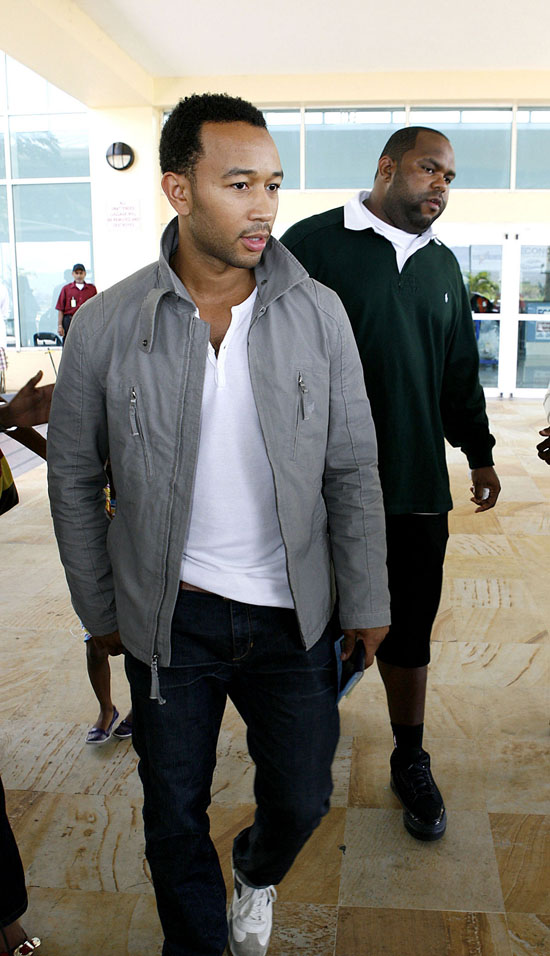 John Legend at Trinidad and Tobago's Port of Spain airport (June 17th 2009)