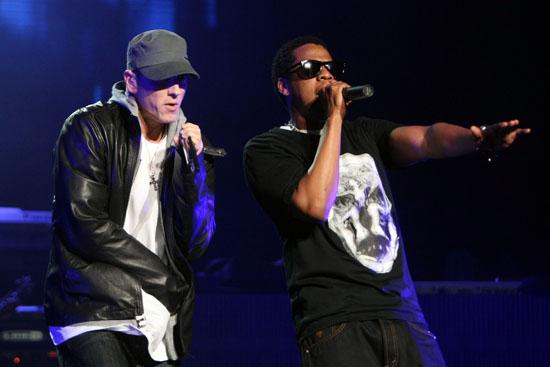 Eminem & Jay-Z perform at DJ Hero Launch