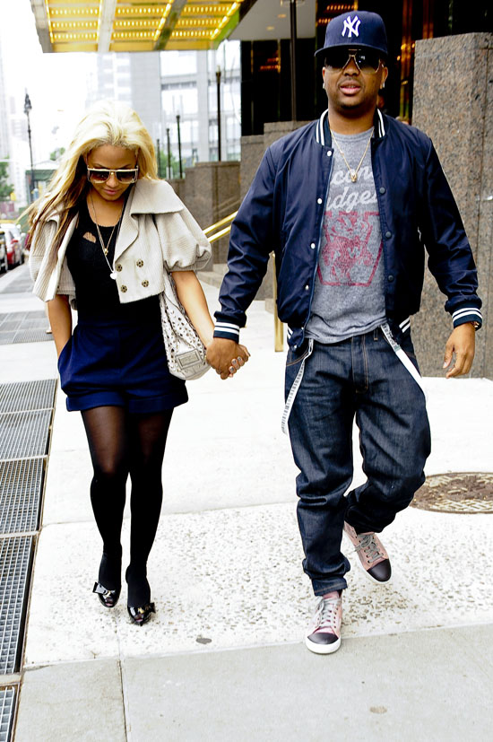The Dream & Christina Milian leaving their hotel in New York City (May 28th 2009)