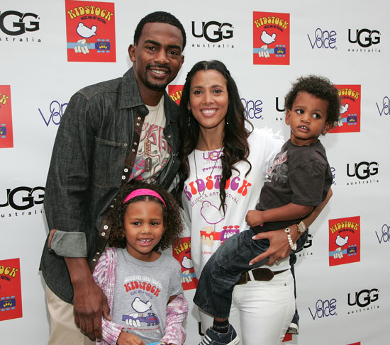 Bill Bellamy, his wife Kristen Baker and their children Bailey and Baron // 3rd annual Kidstock Music and Art Festival