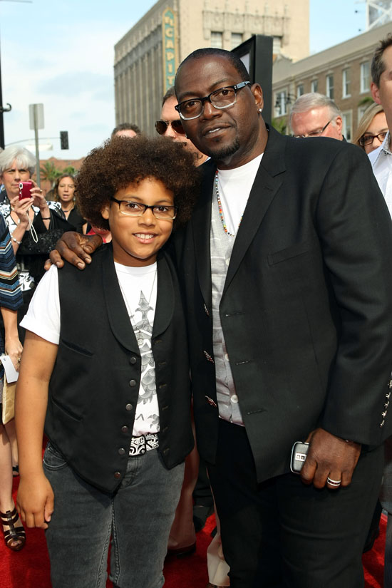 "Randy Jackson and his son Jordan // Premiere of ""Land of the Lost"""