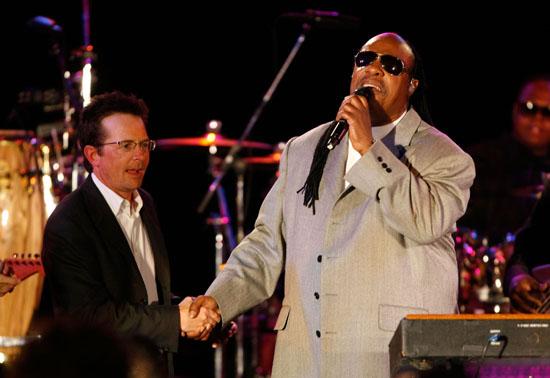 Stevie Wonder & Michael J. Fox // Michael J. Fox Foundation For Parkinson's Research Summer Lawn Party