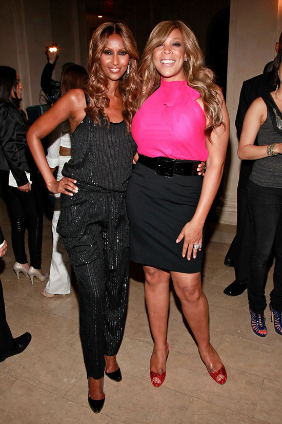"Iman & Wendy Williams // Launch Party for Sam Fine's ""The Basics of Beauty"" DVD"