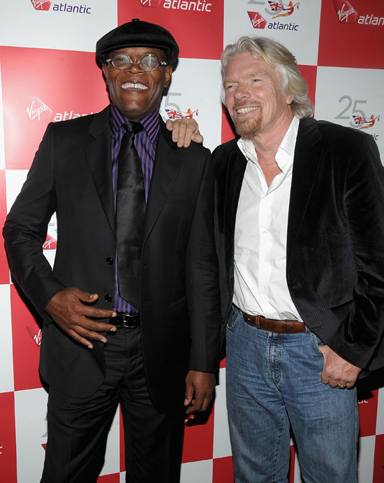 Samuel L. Jackson & Sir Richard Branson // Virgin Atlantic Red Hot Party