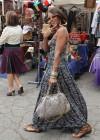 Eva Marcille shopping at Melrose Flea Market in Los Angeles (June 14th 2009)