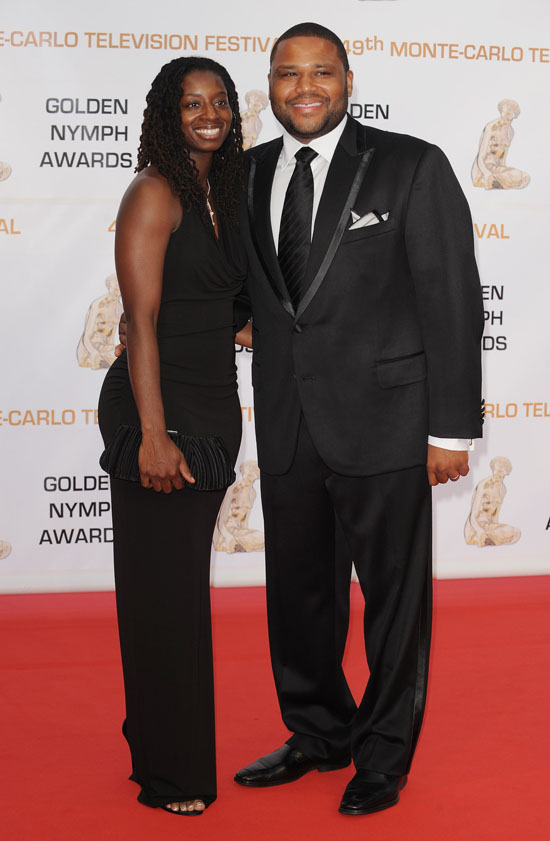 Anthony Anderson & his wife Alvina at the closing ceremony of the 2009 Monte Carlo Television Festival