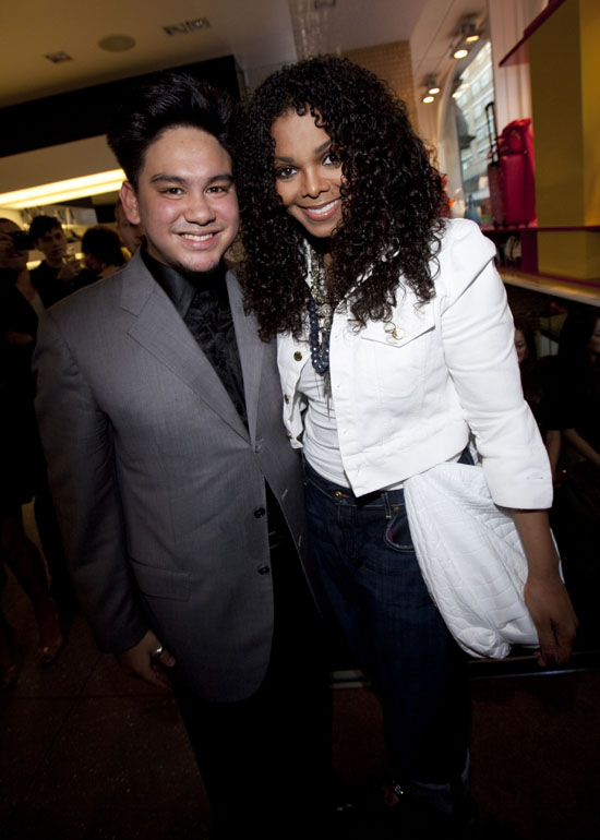 Prince Azim of Brunei and Janet Jackson at MCM store launch in London