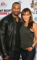 Former NFL Football Player Robert Griffith & his wife Amethyst Lewis // EA Sports\' Launch Party for Fight Night Round 4