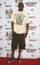 DJ Mbenga of the Los Angeles Lakers // EA Sports\' Launch Party for Fight Night Round 4