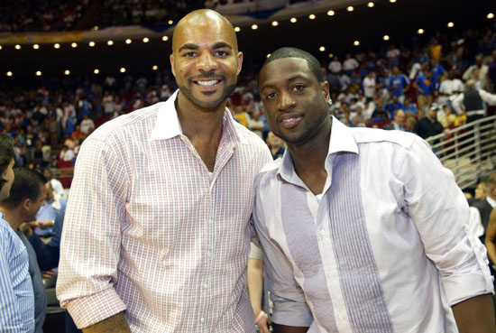 Dwyane Wade & Carlos Boozer at Game 4 of the 2009 NBA Finals in Orlando (June 11th 2009)