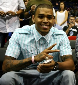 Chris Brown at Game 4 of the 2009 NBA Finals in Orlando (June 11th 2009)