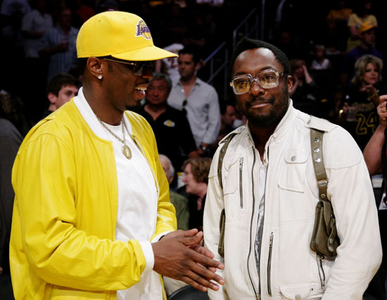 Diddy & Will.i.am // NBA Finals 2009 Game 2